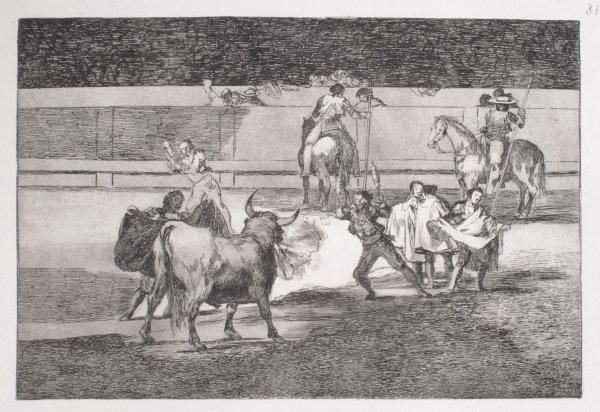 Banderillas With Firecrackers by Francisco Goya