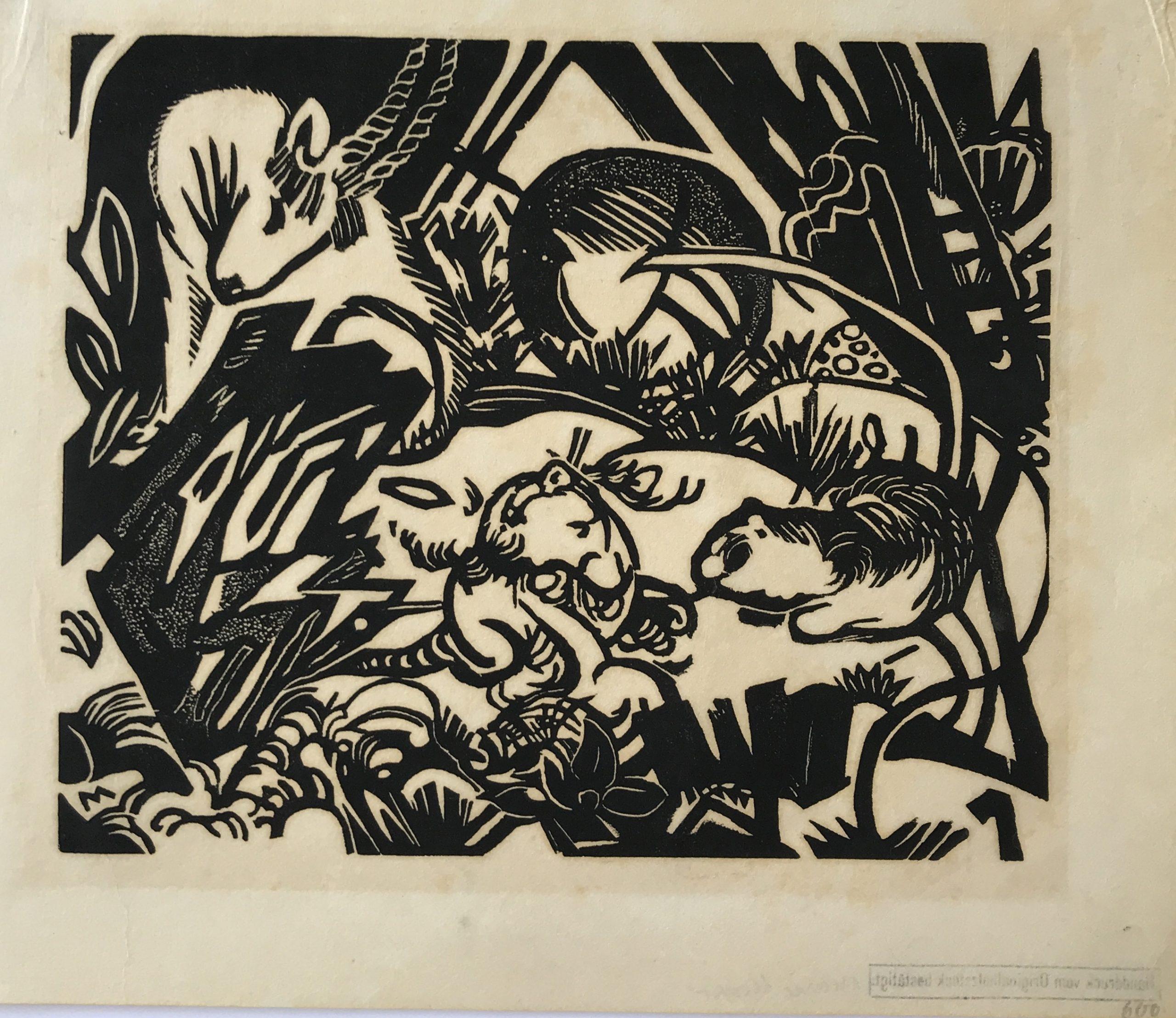 Tierlegende (Animal Legend) by Franz Marc