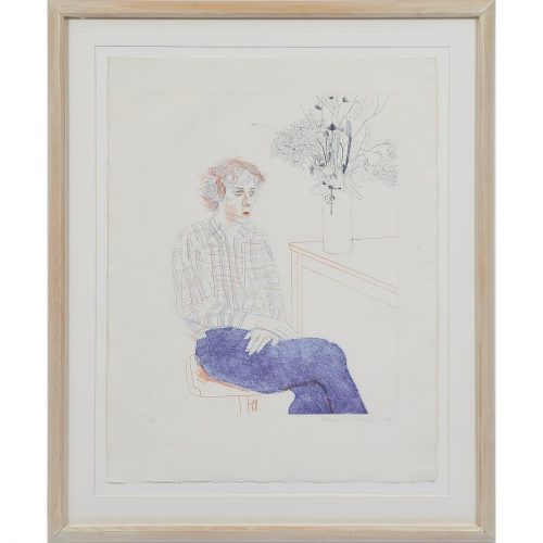 Gregory, 1974 by David Hockney