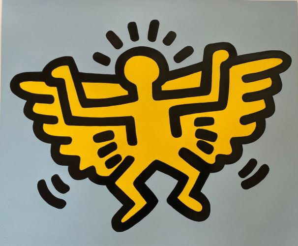 Angel from Icons Portfolio 1990 by Keith Haring at Keith Haring