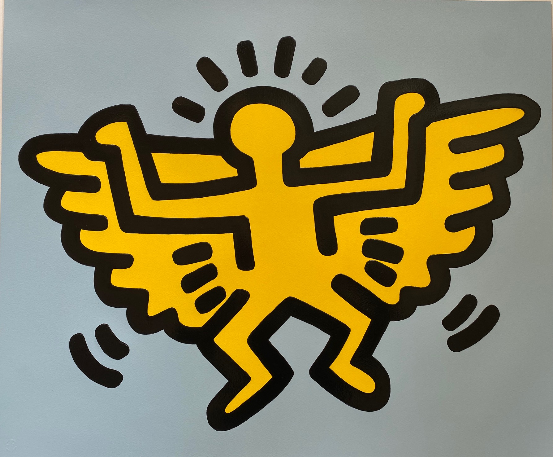 Angel from Icons Portfolio 1990 by Keith Haring