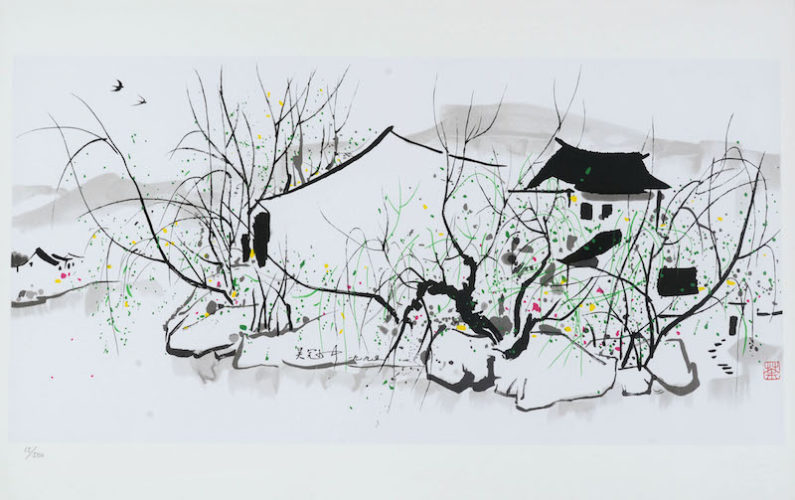 House on the River by Wu Guanzhong