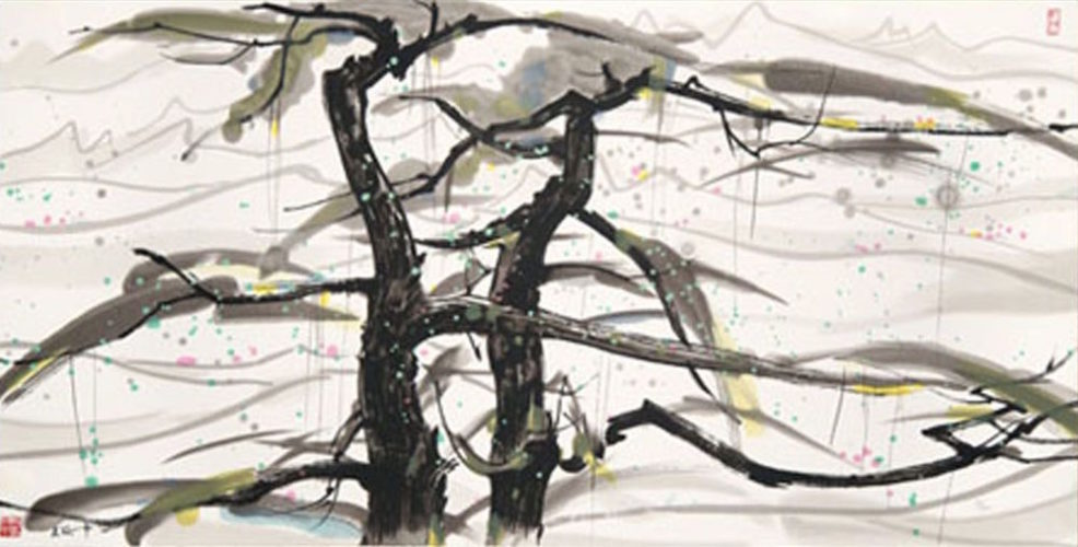 Two Pine Trees by Wu Guanzhong
