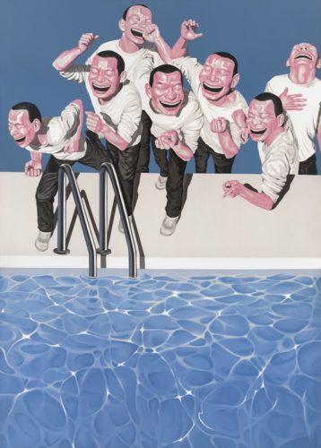 Poolside by Yue Minjun