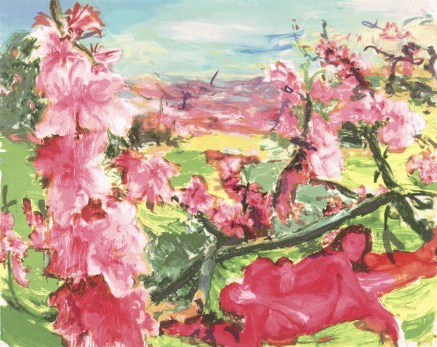 Large Peach Tree by Zhou Chunya