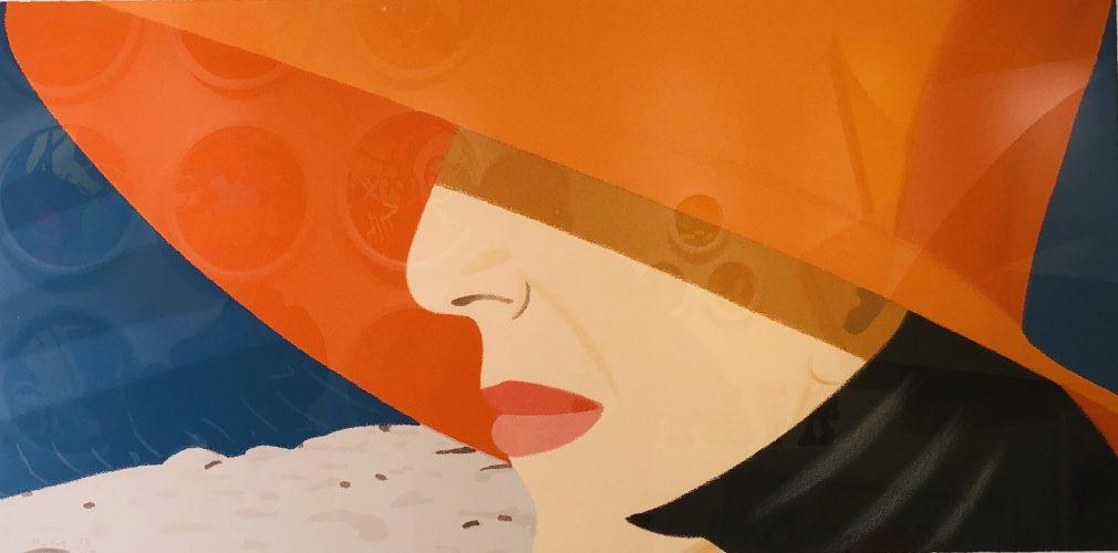 Orange Hat by Alex Katz at