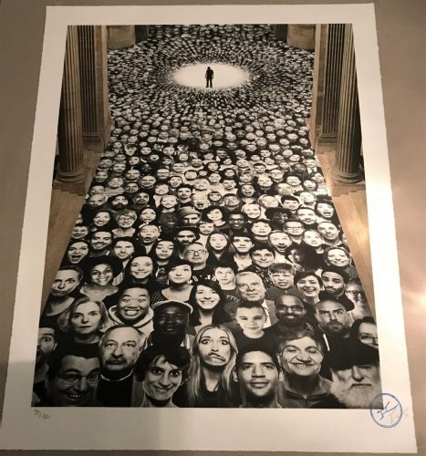 Pantheon (Inside Out Serie), 2014 Lithograph Signed by JR