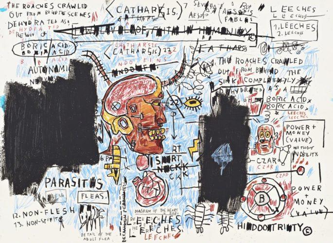 Leeches by Jean-Michel Basquiat