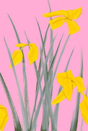 Yellow Flags 3 by Alex Katz