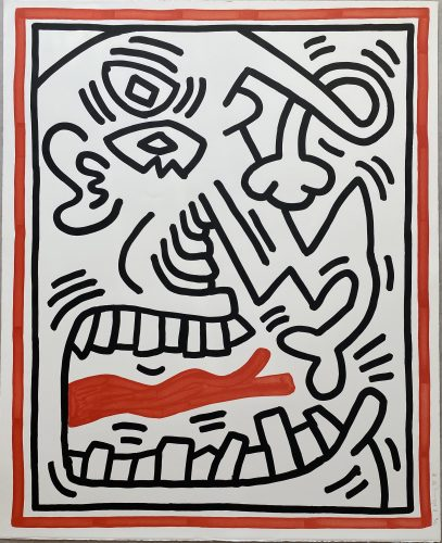 Untitled (Red Tongue) from Three Lithographs 1985 by Keith Haring at Keith Haring