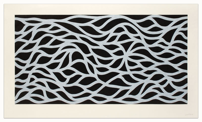 Loopy Doopy, White on Black by Sol LeWitt