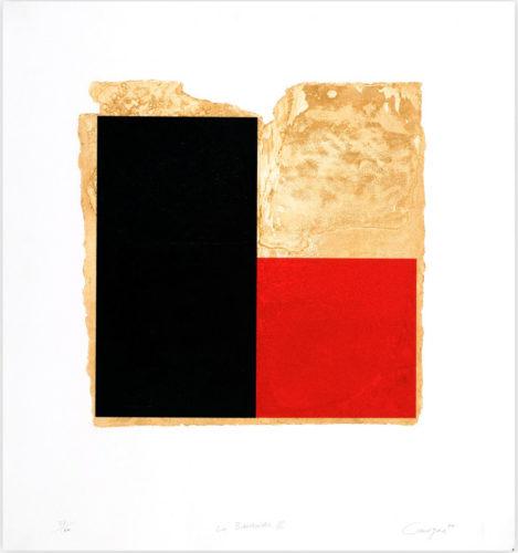 La Bienvenida (rojo) by Rafael Canogar at InvesArt Gallery
