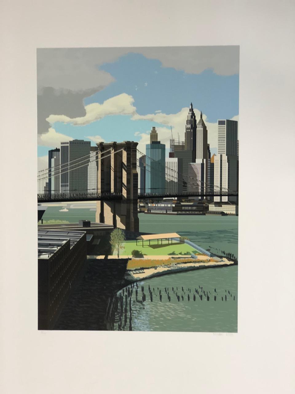 East River, New York by Richard Estes