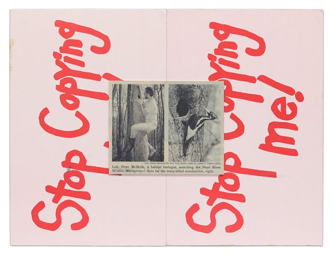 Stop Copying Me by Kay Rosen at Krakow Witkin Gallery (IFPDA)