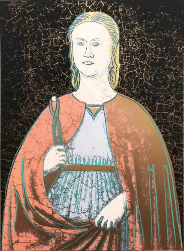 Saint Apollonia 331 by Andy Warhol at Hamilton-Selway Fine Art