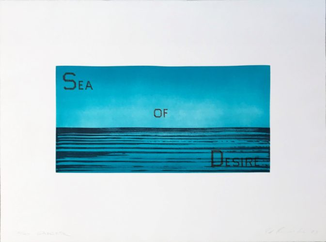 Sea of Desire by Ed Ruscha at Ed Ruscha