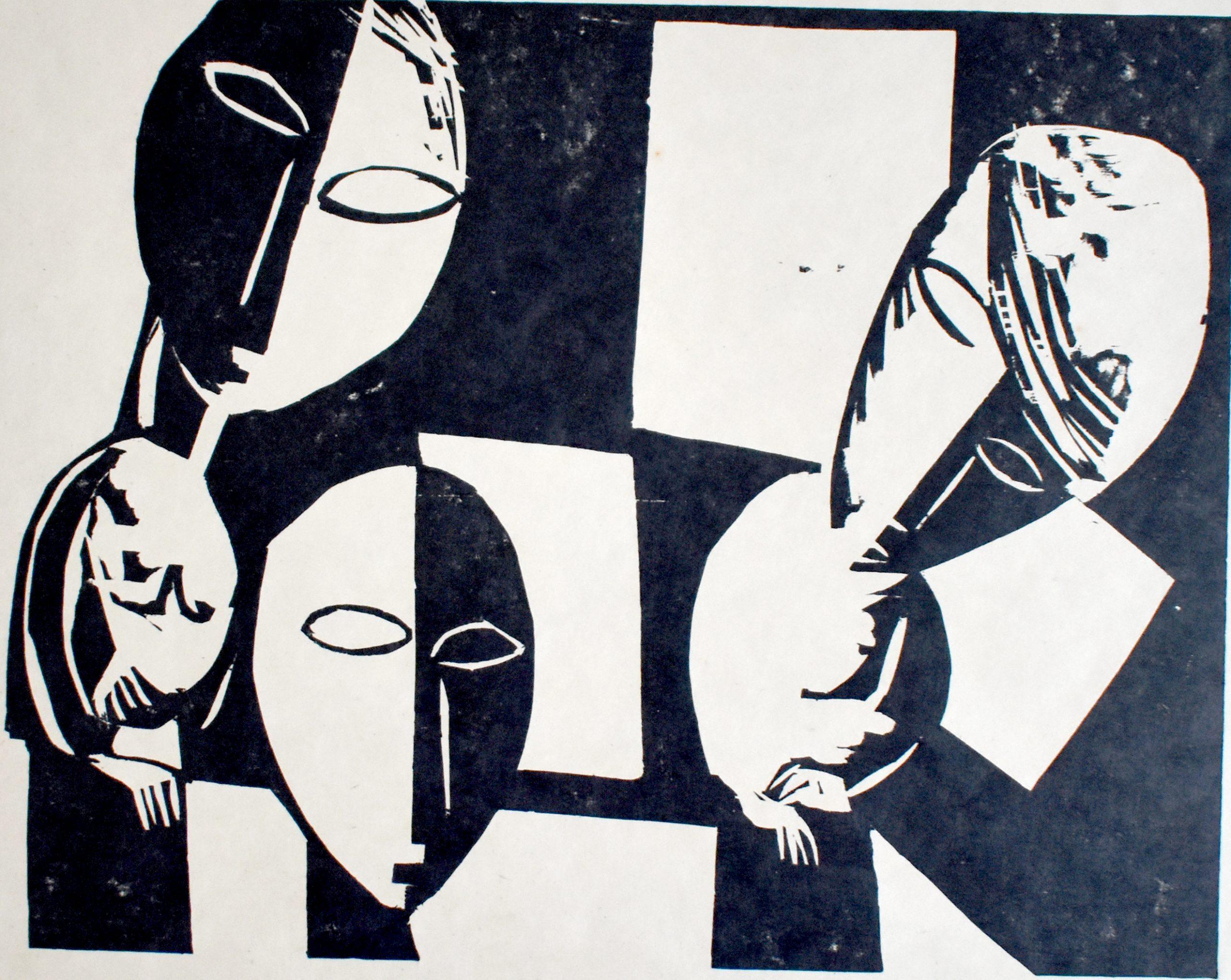 Wandering Women II | Irrende Frauen II, 1920 by Lasar Segall