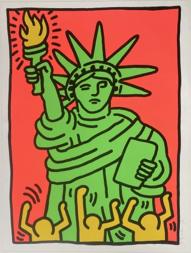 Statue of Liberty 1986 by Keith Haring at Keith Haring