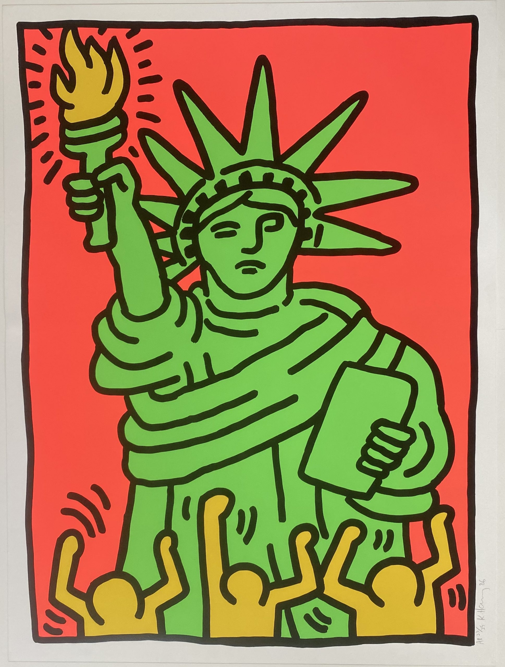 Statue of Liberty 1986 by Keith Haring