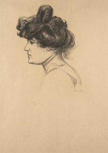 Female Portrait Study by Theophile-Alexandre Steinlen