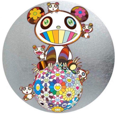 Panda with Panda Cubs by Takashi Murakami