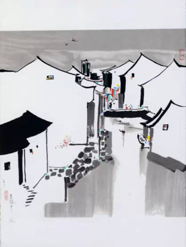 The Hometown Bridge by Wu Guanzhong