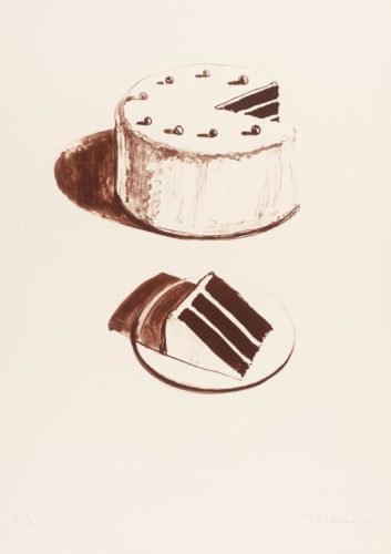 Chocolate Cake by Wayne Thiebaud at