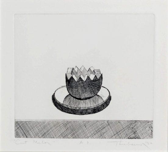Cut Melon by Wayne Thiebaud