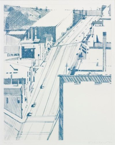 Down 18th by Wayne Thiebaud at Michael Lisi/Contemporary Art