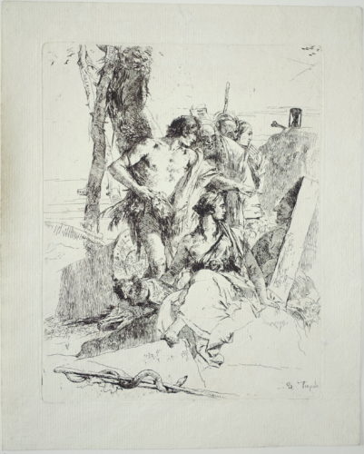 Discovery of the Tomb of Pulcinello by Giovanni Battista Tiepolo