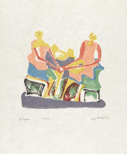 Two Seated Women by Henry Moore at Eames Fine Art