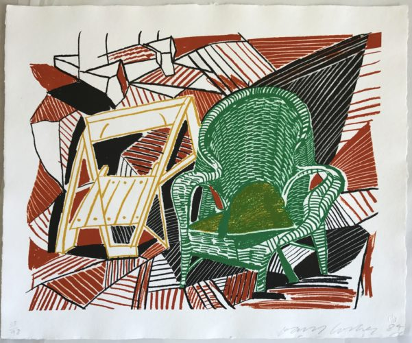Two Pembroke Studio Chairs by David Hockney