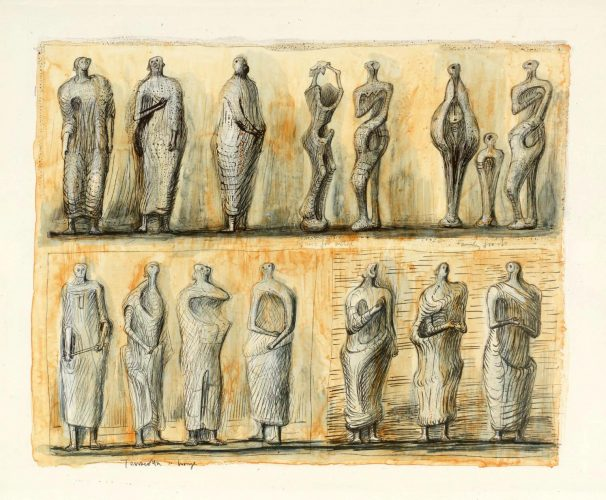 Standing Figures by Henry Moore at Eames Fine Art