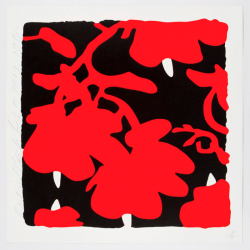 Lantern Flowers, Red And Black by Donald Sultan at Maune Contemporary