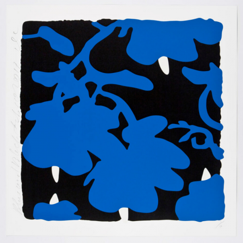 Lantern Flowers, Black And Blue by Donald Sultan at Maune Contemporary
