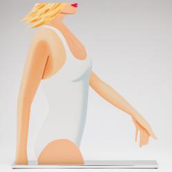 Coca Cola Girl (Cutout) by Alex Katz at Maune Contemporary