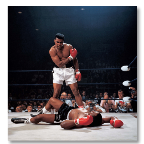 Ali Knocks out Liston, 1965 by Neil Leifer at