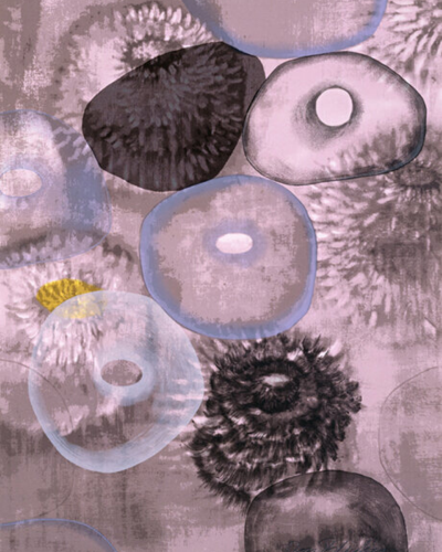 Happiness For Instance (2/3) by Ross Bleckner at