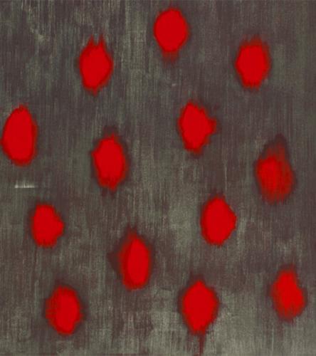 Throbbing Hearts (Small) by Ross Bleckner