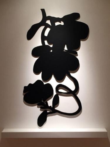 Three Black Lantern Flowers by Donald Sultan