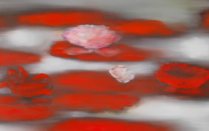Floating Red by Ross Bleckner