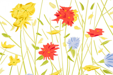 Wildflowers by Alex Katz at Maune Contemporary