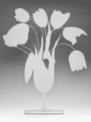 White Tulips And Vase by Donald Sultan