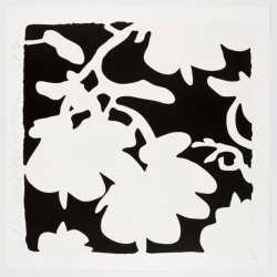 Lantern Flowers, White And Black by Donald Sultan at Maune Contemporary