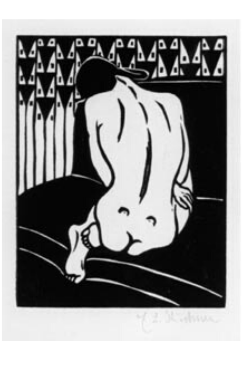 Kauernder Akt (Crouching Nude) by Ernst Ludwig Kirchner