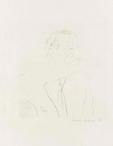 W H Auden by David Hockney