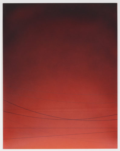 Power Line Drawing #11 by Alex Weinstein at Leslie Sacks Gallery (IFPDA)