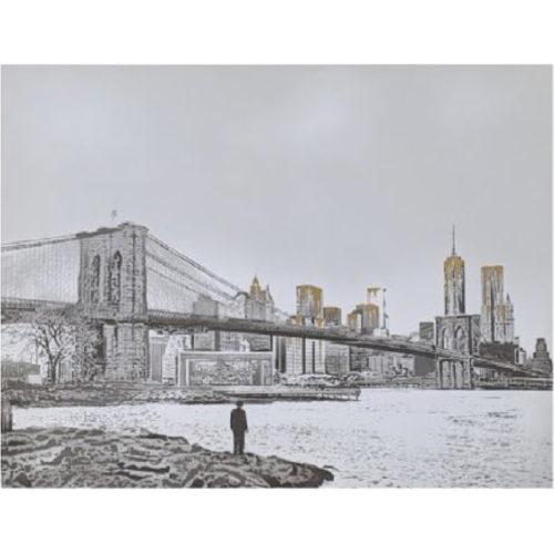 Brooklyn Bridge (Gold) by Nick Walker