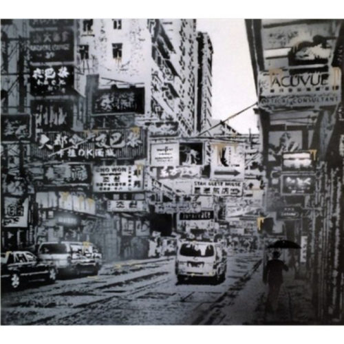 Basking In The Glory, Hong Kong (Gold) by Nick Walker