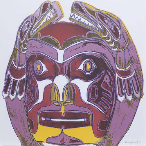 Northwest Coast Mask by Andy Warhol